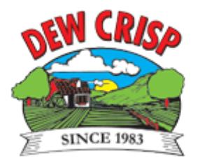 dewcrisp dew crisp logo