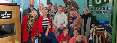 Familie neemt afscheid van Joost en Sandra
