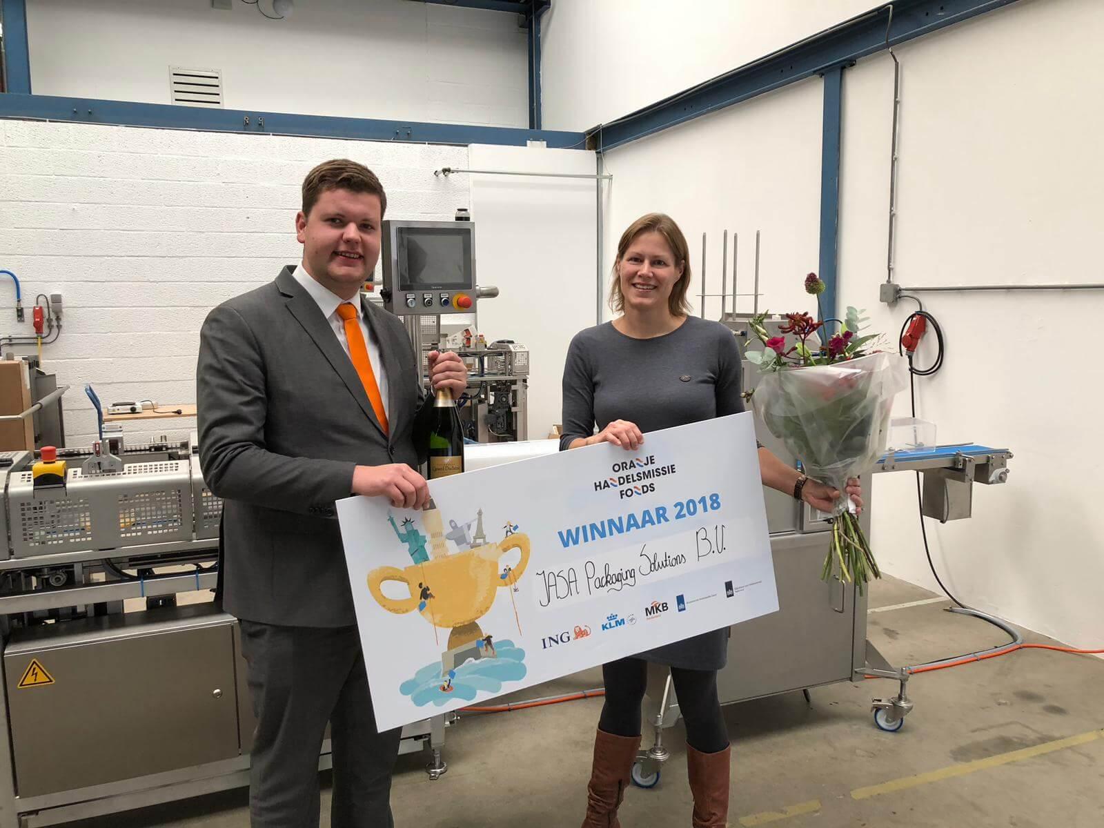 Sandra Pannekeet wint Oranje Handelsmissiefonds met JASA Packaging Solutions