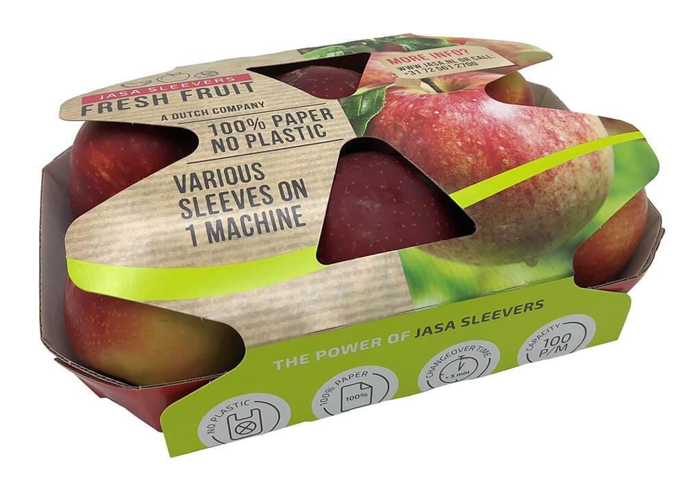 Appel sleeve 100% cardboard 100% recyclable