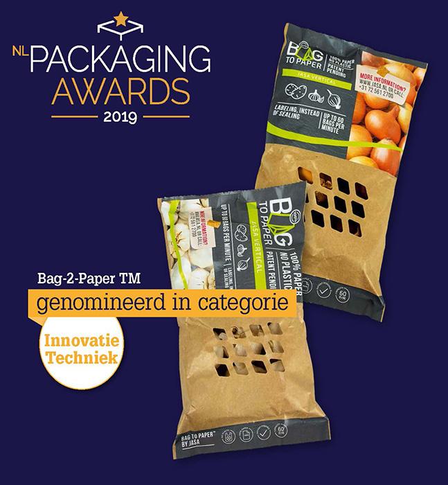 Nominatie Packaging Awards 2019