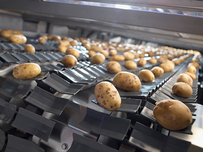 aardappelen optisch sorteren