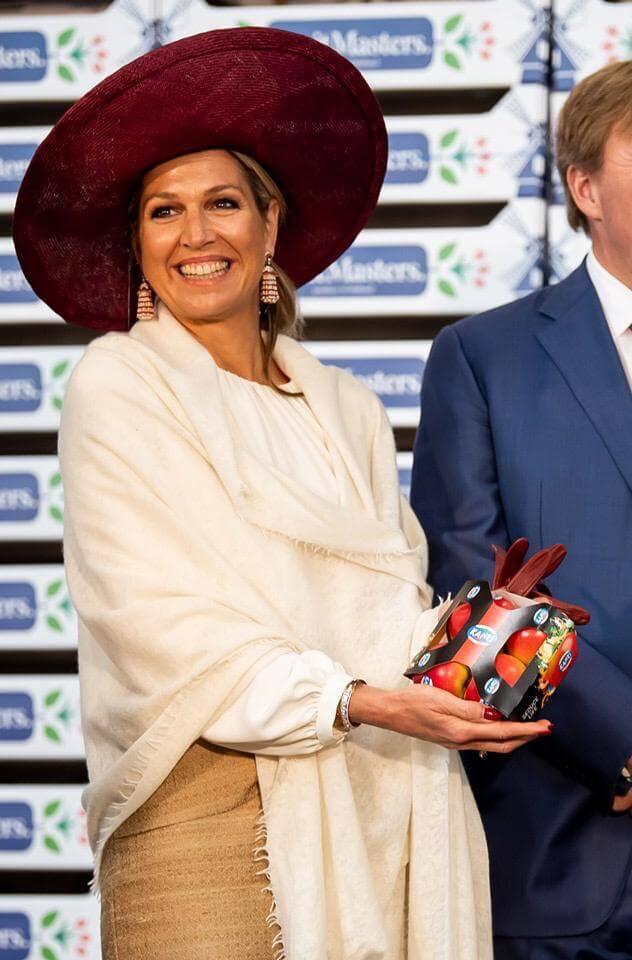 Koningin Máxima met JASA's sleeve voor appels