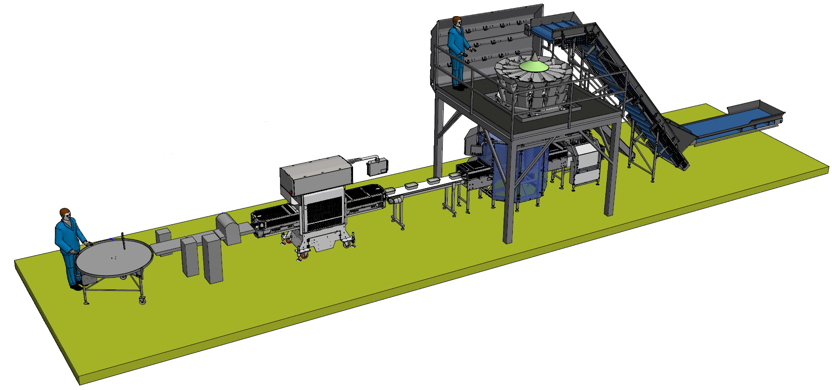 Single Tray Packing Line