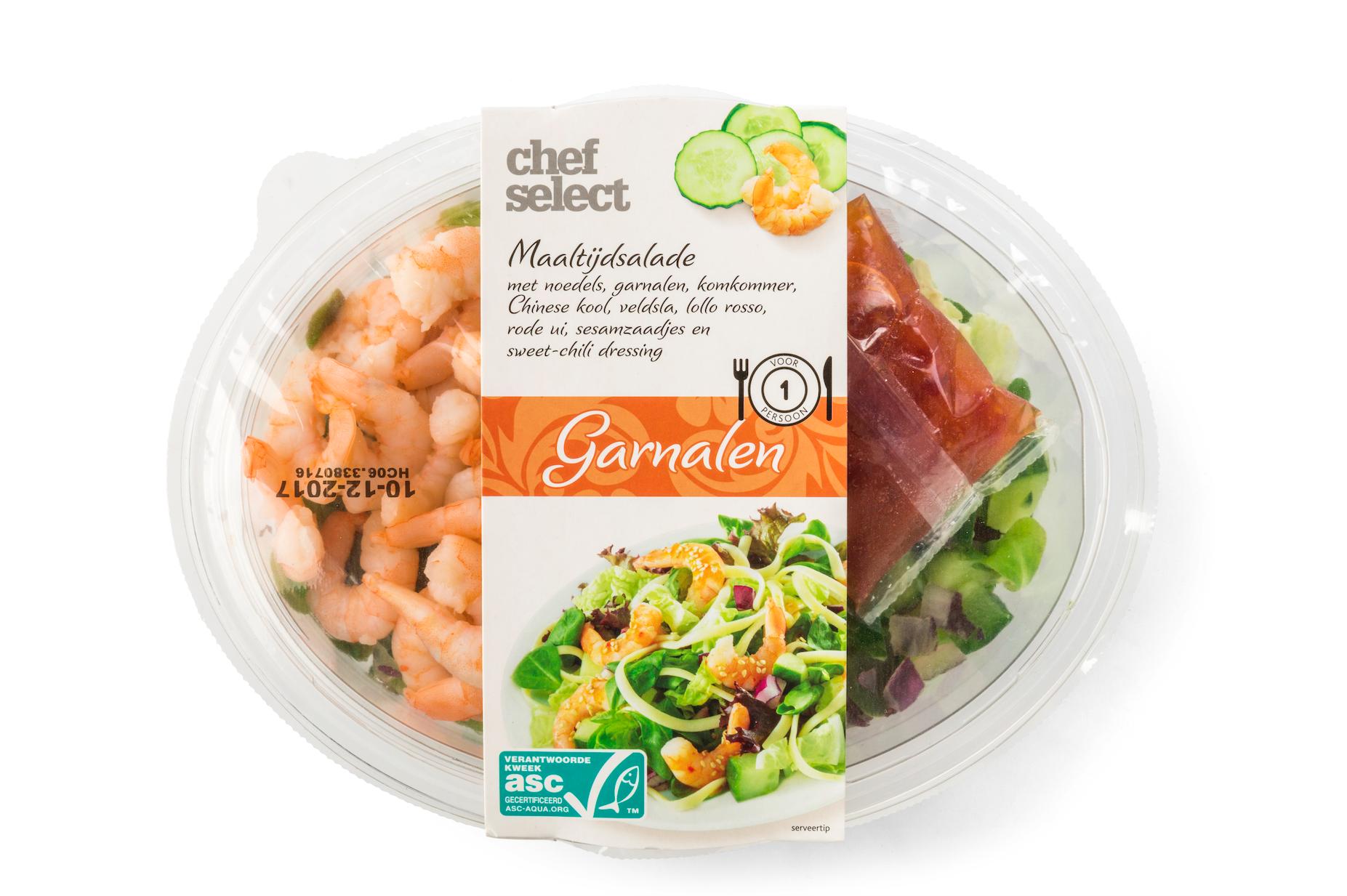 Garnalen maaltijd salade